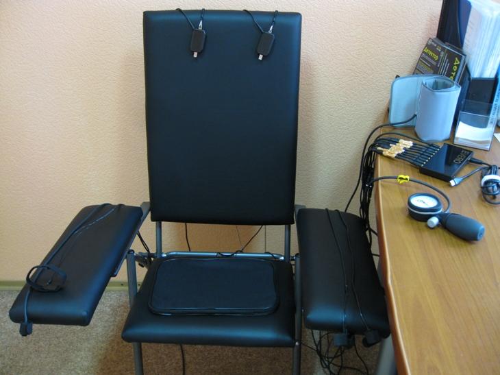 Кресло для полиграфа детектора лжи
