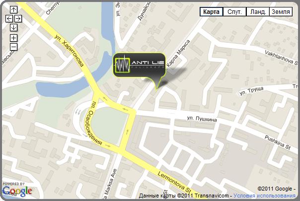 Карта - как проехать в Детектор Лжи - Антилай